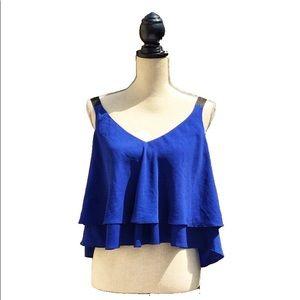 ☀️4/25 Zara Woman Flowy Crop Top, Size XS